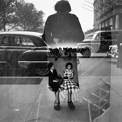 Vivian maier photograph black and white self portrait 1954