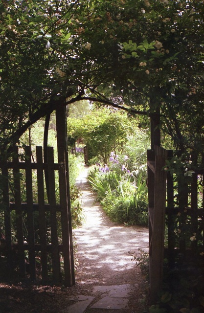 Beautiful garden entryway.