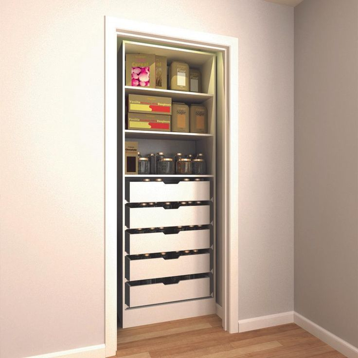 Built In Office Closet Storage Office Organization Pull Out Drawers And Shelves Kitchen Storage Organization Kitchen Storage Pantry Organizers