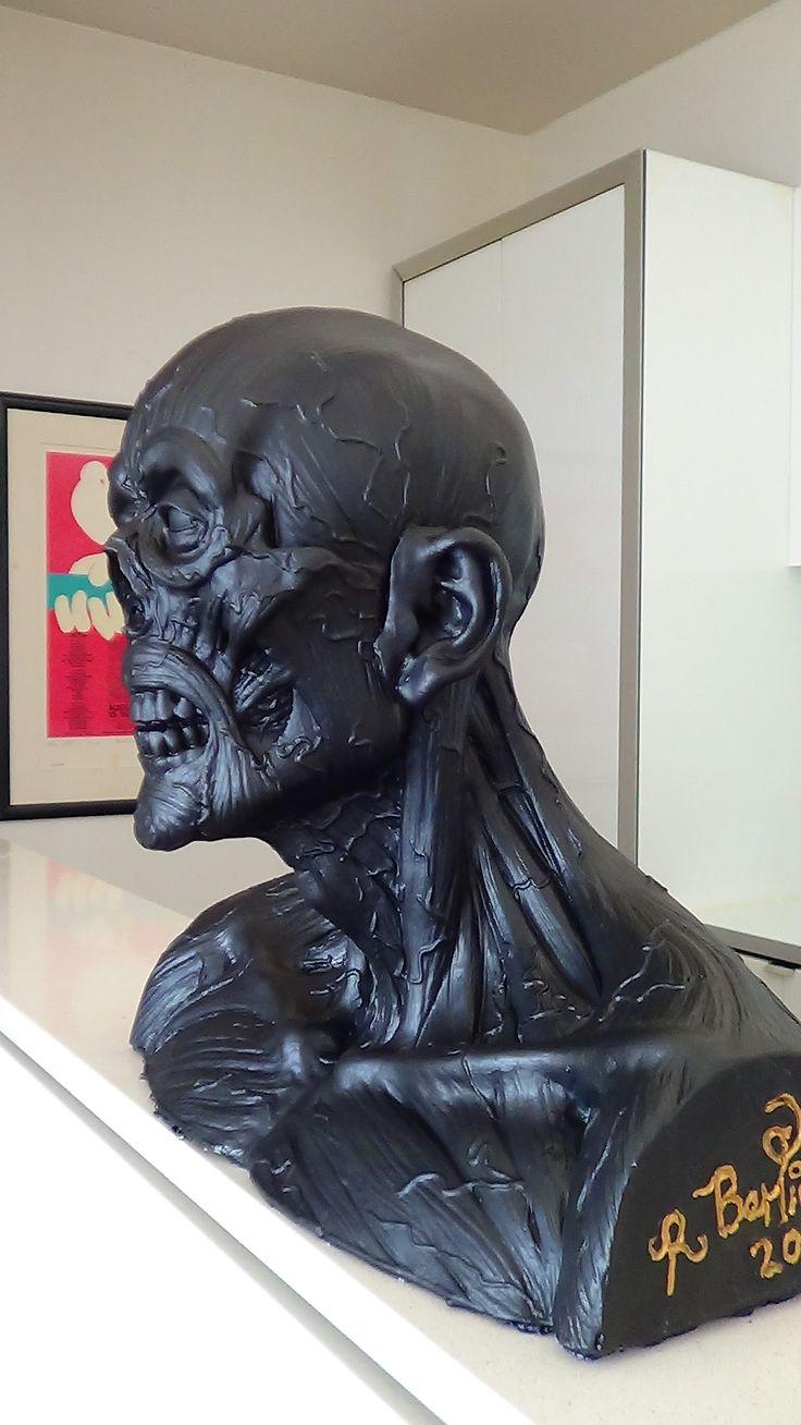 anatomy head sculpture, refreshed paint job