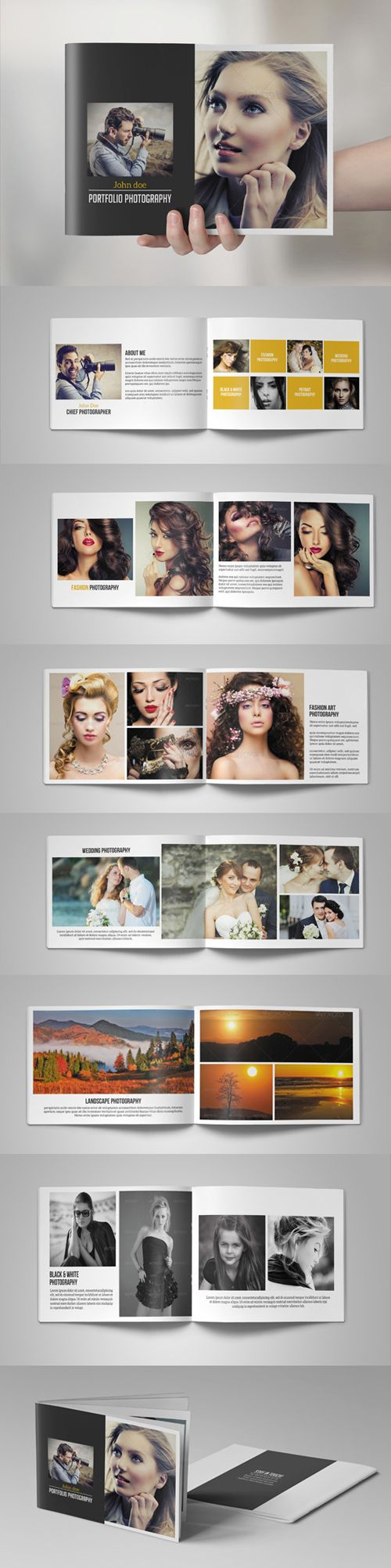 Catch out this Highly creative Photography Portfolio Brochure Catalog Template