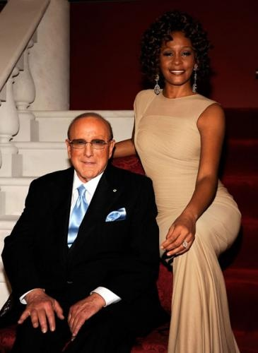 Clive Davis w/ Whitney ck... Whitney was why I got my teeth straightened, lol.  I couldn't get pipes like hers though.