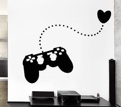 Joystick Wall Stickers Gamer Play Room Video Games Teen Vinyl Decal (ig2481)