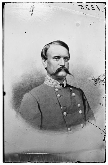 Brig. General John Cabell Breckinridge (16.1.1821|17.5.1875)  Non-combatant Mexican-American War. 1856 elected U.S. Vice President (with President James Buchanan) Fought in Eastern & Western theatres. At Battle of New Market his force which incl. 261 VMI cadets defeated Sigel's forces. Wounded at Cold Harbor. In Jubal Early's 1864 Shenandoah Valley Campaign & raid on Washington. Appointed Confederate Sec. of War 4.2.1865.