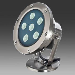 Corpo in acciaio inox Colore: ACCIAIO INOX 5000K° Attacco:  Fascio:30° Lumen: 540 Led: CREE Watt: 6Volt: 230 V   Hz:50/60 Hz   Classe isolamento :Cl.1    Classe di protezione:IP67 Rotazione: 180-360° CE