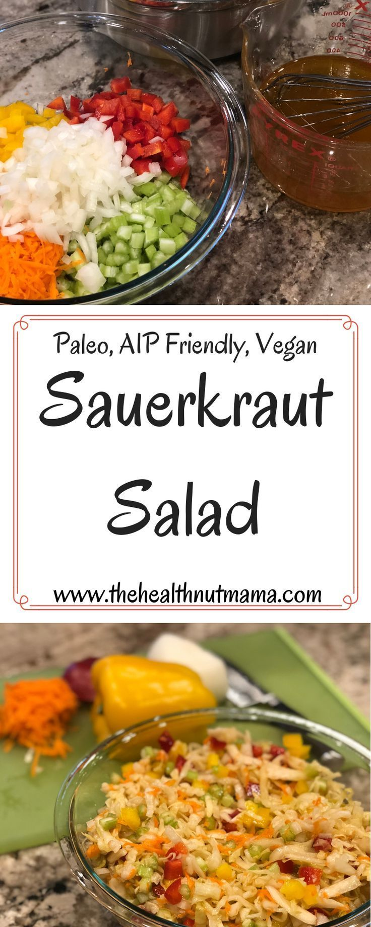 Paleo Sauerkraut Salad is so easy & delicious! Perfect for entertaining, barbecu…