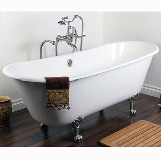 Double Slipper 67-inch Cast Iron Clawfoot Bathtub | Overstock.com Shopping - Big Discounts on Claw Foot Tubs