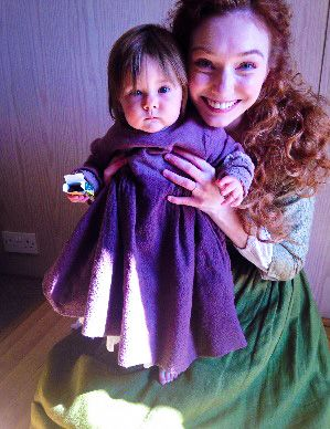 Eleanor and little Matilda, who is one of three babies who plays Julia Poldark. SO CUTE!!! <3 ***MY EDIT OF THIS IMAGE. PLEASE LINK BACK TO ME (Sarah-Vita) IF SHARED!!!!***