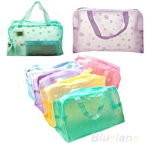 Hot Floral Print Transparent Waterproof Makeup Make up Cosmetic Bag Toiletry Bathing Pouch 0EFB #>=#>=#>=#>=#> Click on the pin to check out discount price, color, size, shipping, etc. Save and like it!