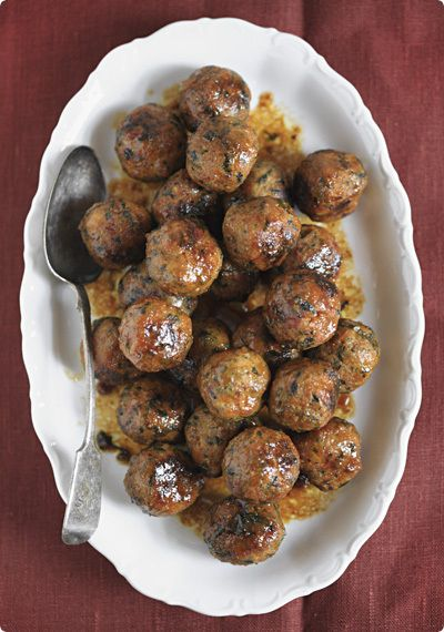Fancy Italian meatballs with candied citrus and almonds #appetizer #italian