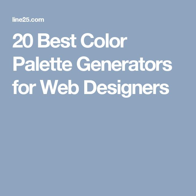 20 Best Color Palette Generators for Web Designers