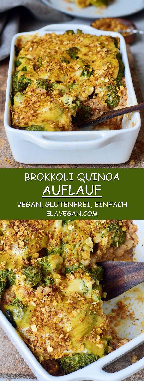 Brócoli saludable a la cazuela de quinua, vegana, sin gluten, sin granos y fácil de digerir.   – Vegan
