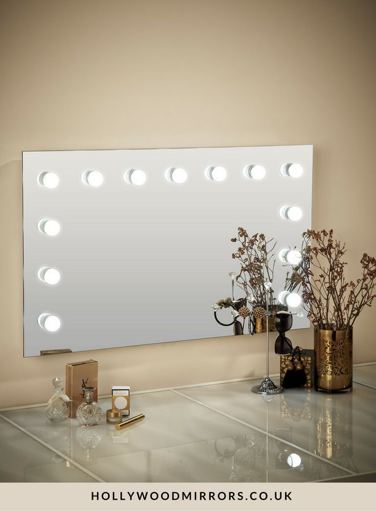 Hollywood Mirror Wall Mounted XL   Makeup Mirror with Lights   Dressing  Table Mirror with Lights. Best 25  Mirror with lights ideas only on Pinterest   Mirror
