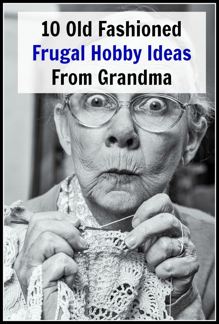 Take a look at these 10 Old Fashioned Frugal Hobby Ideas from Grandma for some ideas for what you can do! People back in the time of your grandma often had just as much fun back then as we do now, even without all the conveniences and technological advances. And their fun hobbies usually didn't cost them much. Sometimes they even made money with their hobbies!   money saving ideas, frugal living, thrifty living, old-fashioned living