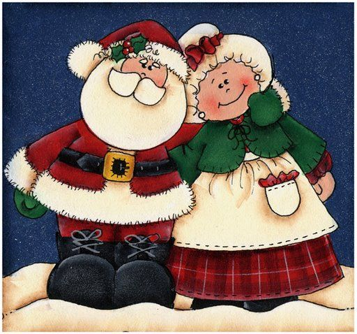 CHRISTMAS, SANTA AND MRS. CLAUS CLIP ART                                                                                                                                                                                 Mais