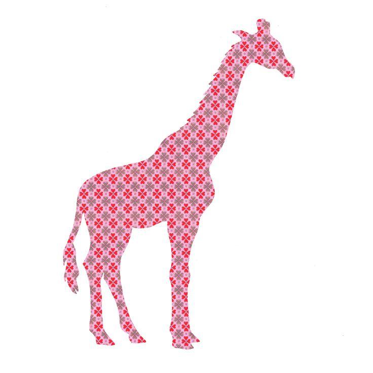 Een mooie giraffe, handgemaakt van echt behang. De behangfiguur giraffe is 143 centimeter hoog. Leverbaar in diverse kleuren.