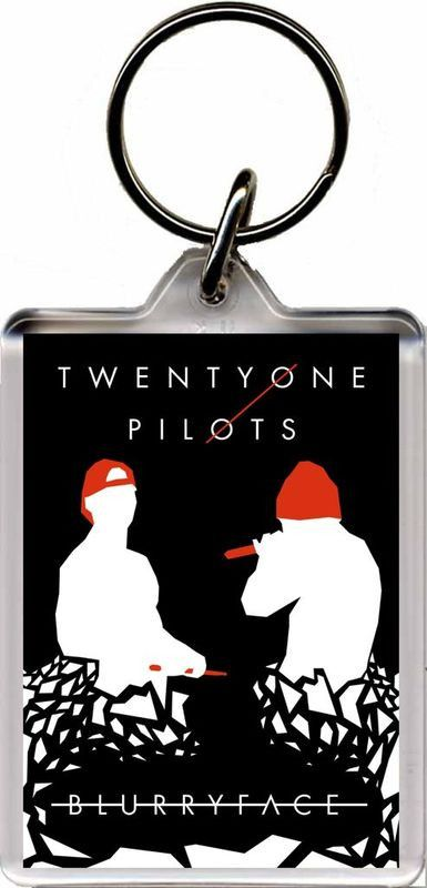 Twenty One Pilots - Plastic Key Ring. Size (Approx): 3 x 2 inches (8 x 5 cm). FREE POSTAGE