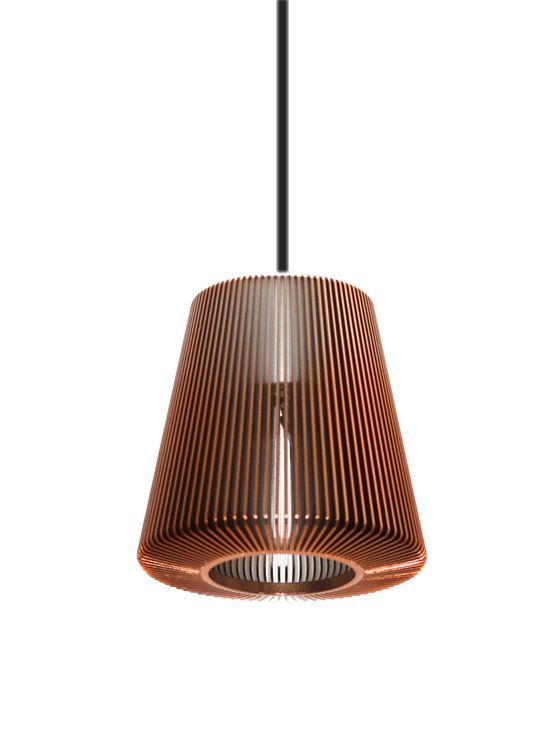 Eoqs bramah copper finish aluminium pendant light perfect shape perfectly made plus a