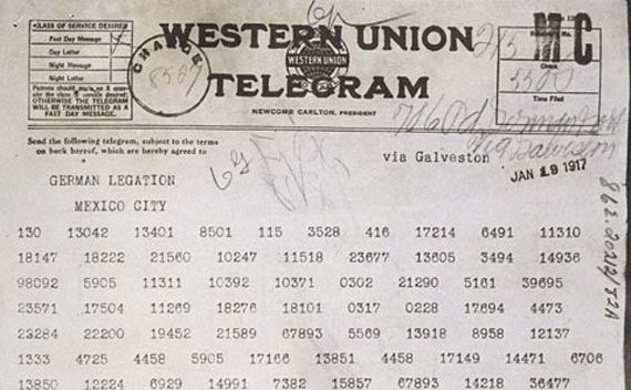 Zimmermann Telegram This is a picture of t...