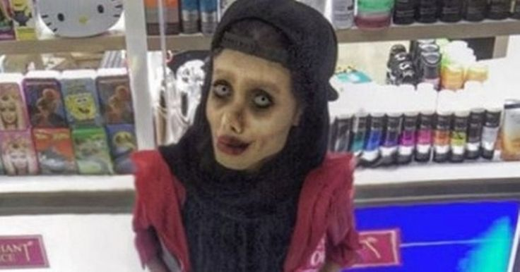There's no denying the 19-year-old looks terrifying, as people compare her to Tim Burton's Corpse Bride