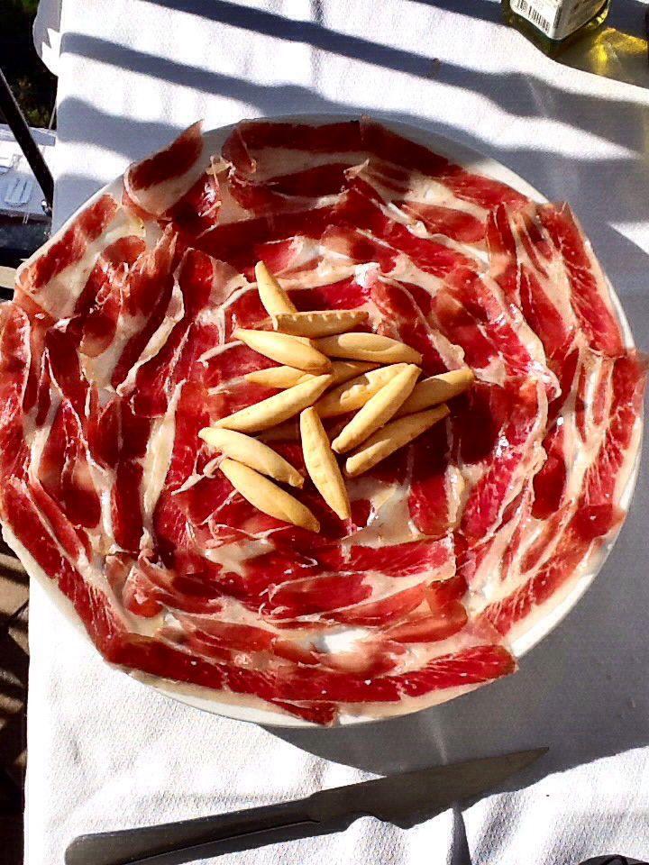 Espectacular plato de Jamon Iberico, ¡una gozada! @jamonjulianmart  #entretodospodemos