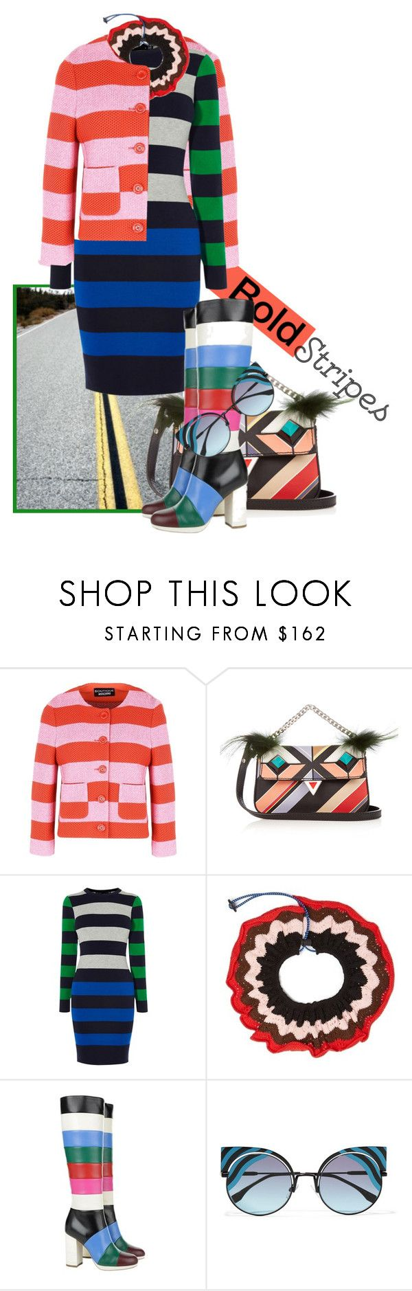 """Untitled #2379"" by hexy ❤ liked on Polyvore featuring Boutique Moschino, Fendi, Karen Millen, Marni and Valentino"