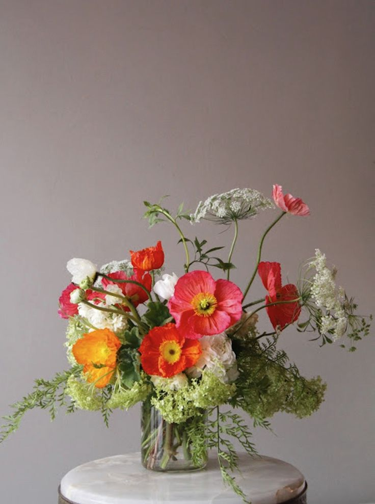 This arrangement of poppies adds character to a room, and it's also edible.