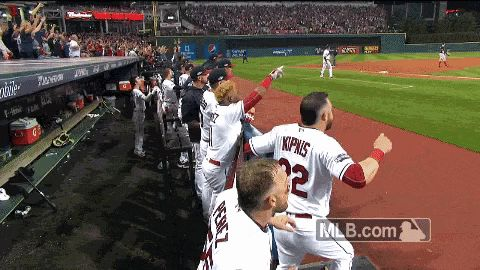 New trendy GIF/ Giphy. mlb baseball celebration alds cleveland indians game 1. Let like/ repin/ follow @cutephonecases
