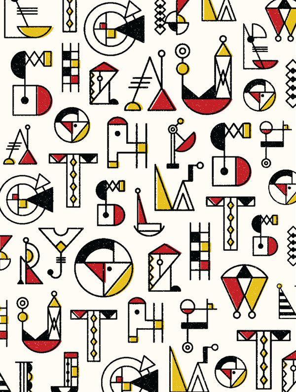 BAUCHSTABEN - typeface design by Nana Nozaki, via Behance