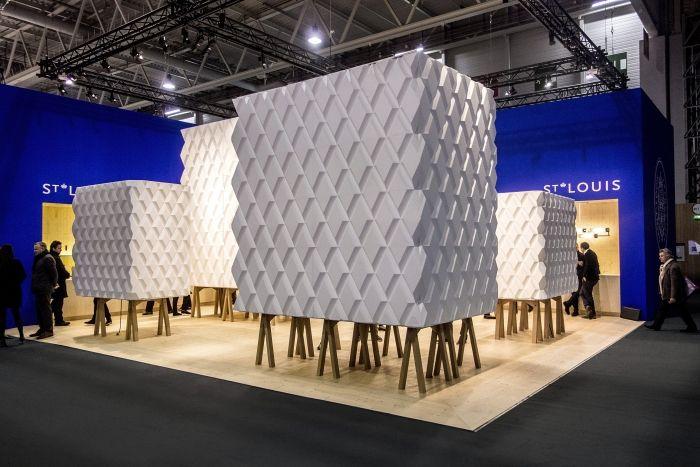 polystyrène - bloc caché/montré (V8designers Saint-Louis, Maison&Objet 2013)