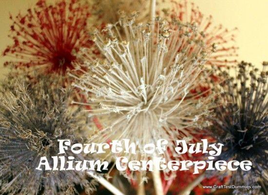 """Stellen Sie eine wirtschaftliche patriotischen Herzstück für Ihr vierter von Juli-Party mit dieser getrockneten Blumen-Handwerk und machen faux """"Feuerwerk!""""  CraftTestDummies.com"""