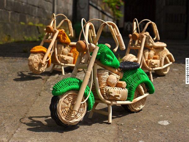 harley-davidson motorcycle of rattan