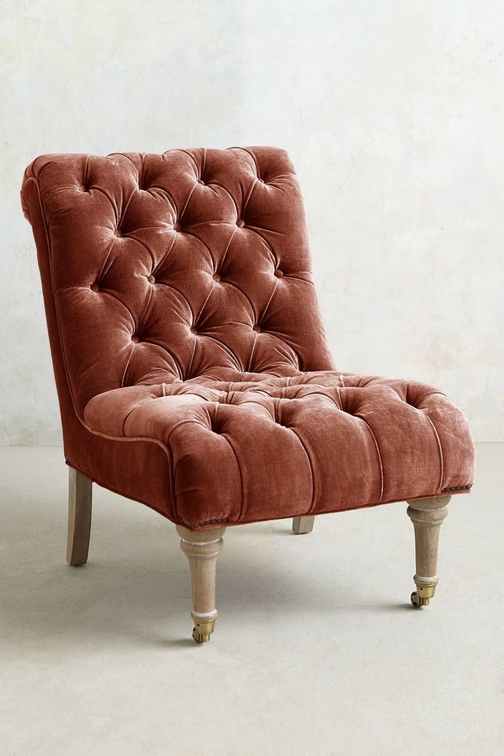 Velvet Orianna Slipper Chair From Anthropologie. Weu0027d Glam Up A Family Room  Or Living Room With This Gorgeous Velvet Chair.