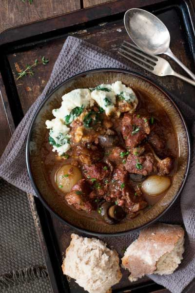 Beef & Mushroom Stout Stew with Colcannon | Crush Magazine