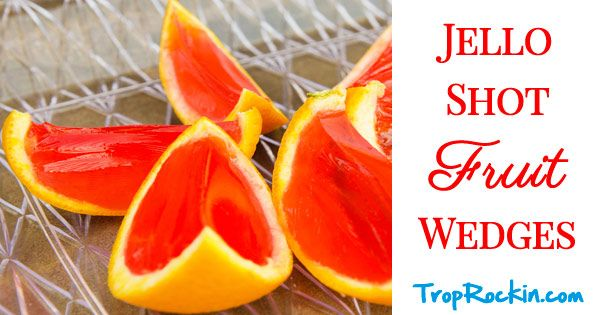 Jello Shot Fruit Wedges are way more fun! Here's how we made Jello Shots in orange slices and lime slices for fun colors and great taste.