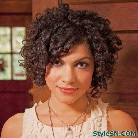 The Fantastic Curly Asymmetric Bob Cut