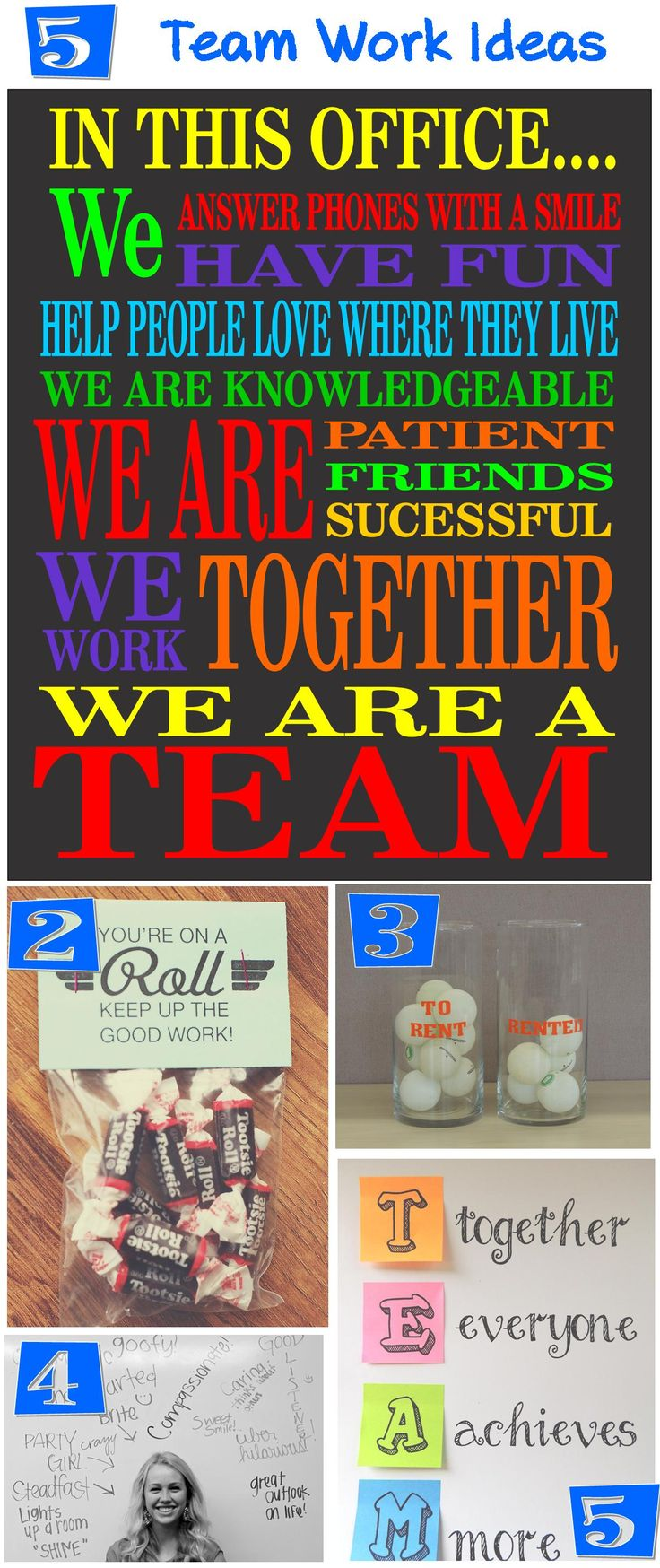 The ONLY way to have a very productive and fun place to work is to make it that way. Take some time to identify goals and congratulate teammates on accomplishments. When you work as a team you re…