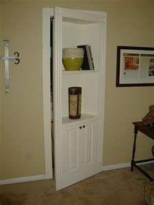 Hidden Bookcase Door, I want this for my basement door!
