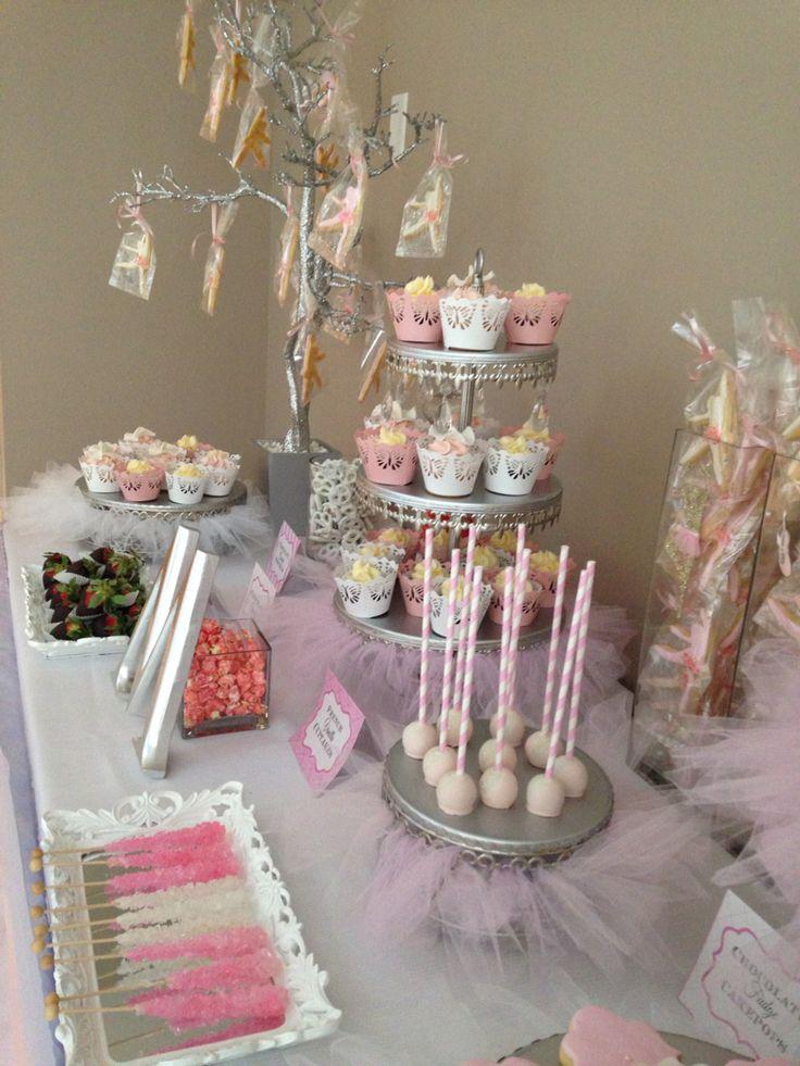 Ballerina Cake pops-cupcakes -butter cookies -pink ballerina theme candy bar