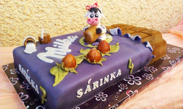 Chocolate Milka bar cake