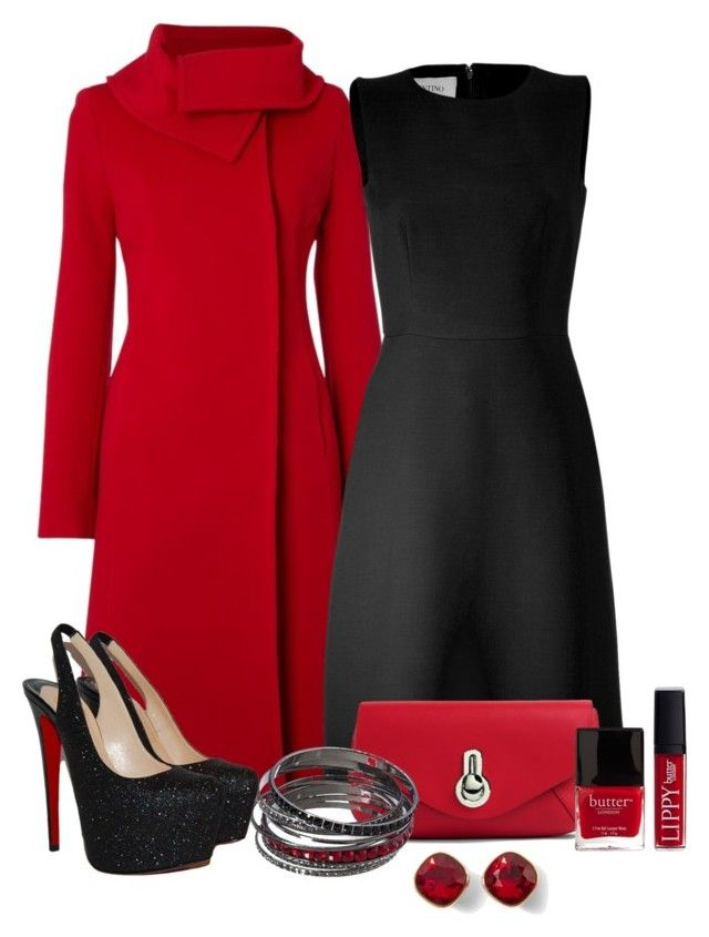 """""""Untitled #448"""" by allisonbf ❤ liked on Polyvore featuring Hobbs, Valentino, Raoul, Christian Louboutin, Butter London, White House Black Market, women's clothing, women's fashion, women and female"""