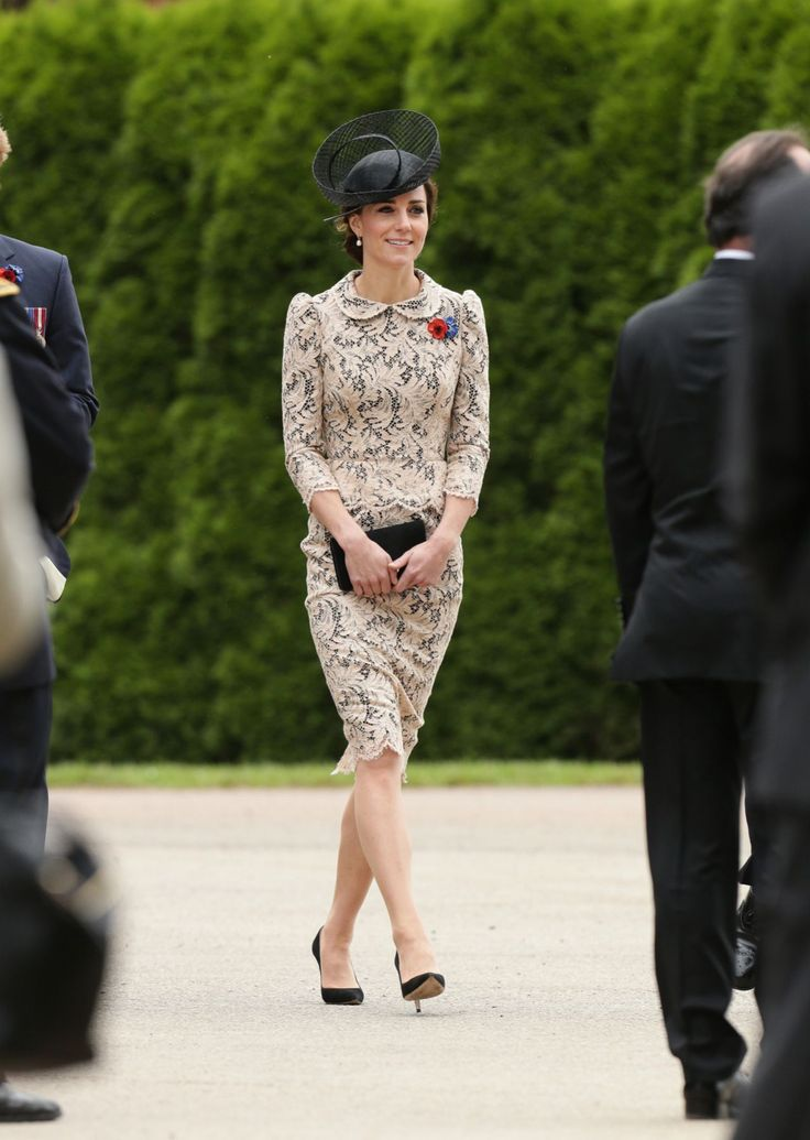 <p>For the Duchess of Cambridge, it's a fashion history moment in the makingwhenever she steps outside the comfort of her palace's many walls — whether she likes it or not. The woman formerly known as Kate Middleton is a creature of comfort, choosing favorite brands such as Jenny Packham, Alexander McQueen, and L.K. Bennett over and over again in silhouettes including coats that double as dresses, fit and flare frocks, and skirt suits, all of which she occasionally pairs with fun…