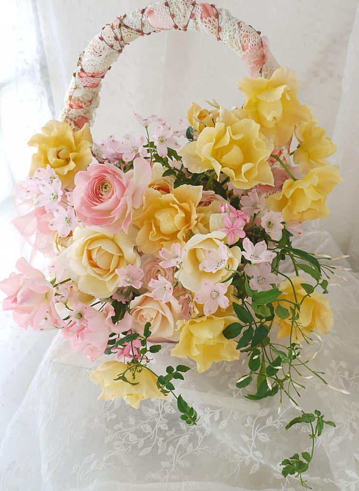 バックブーケ 八芳園様へ ソフィア : 一会 ウエディングの花