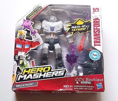Another great find at #ccsboutique www.everythingforchildren.net Like us on facebook!  facebook.com/ccsboutiquestore Hasbro TRANSFORMERS Hero Mashers MEGATRON NEW sky warp weapon action figure toy shooter vhtf oop 2013 mix and match parts rare