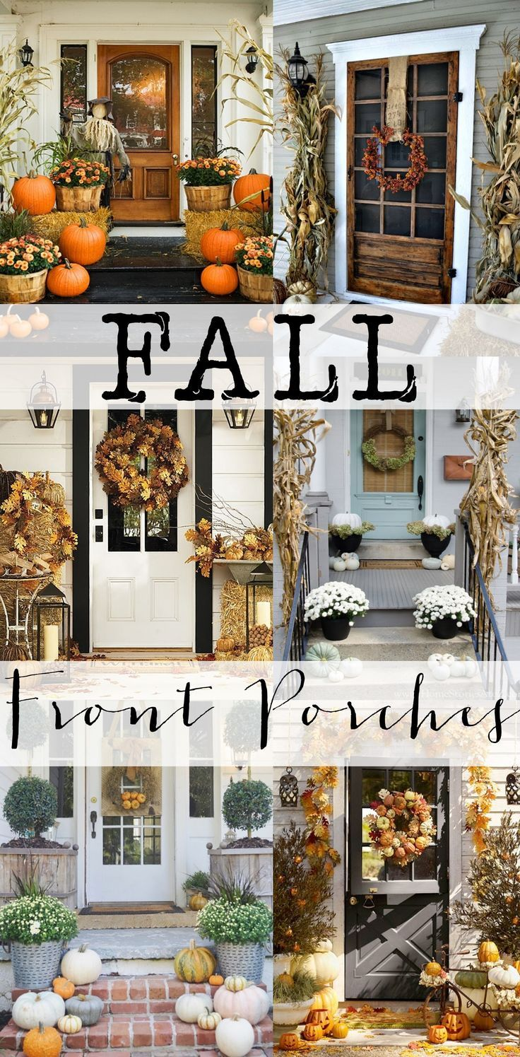 Halloween front porch decorations - Check Out All These Amazing Fall Front Porches For Tons Of Inspiration