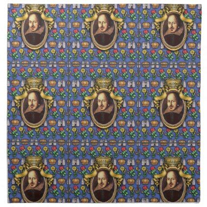 William Shakespeare Cloth Napkin - portrait gifts cyo diy personalize custom