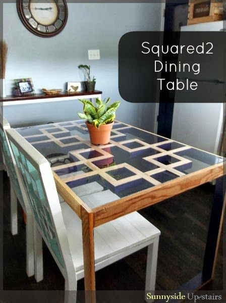 diy tutorial modern dining table with lattice style square motif furniture ideas dining. Black Bedroom Furniture Sets. Home Design Ideas