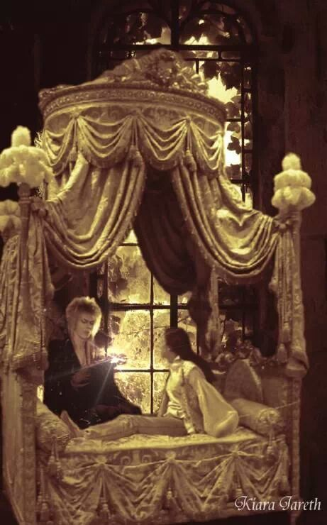 """""""Here, you conjure it now."""" Jareth instructing Sarah on how to use magic. #labyrinth"""
