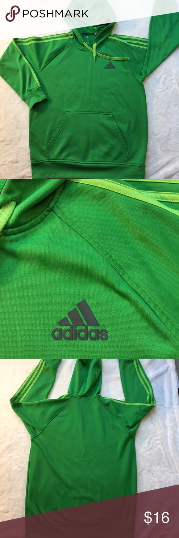 Men's ADIDAS Pullover Hoodie EUC size L Green Adidas hoodie in excellent pre worn condition.  Size Large. Adidas Shirts Sweatshirts & Hoodies