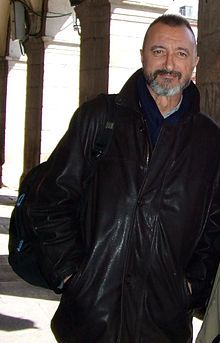 Arturo Pérez-Reverte.  Spainish Historical novelist   I Like his books